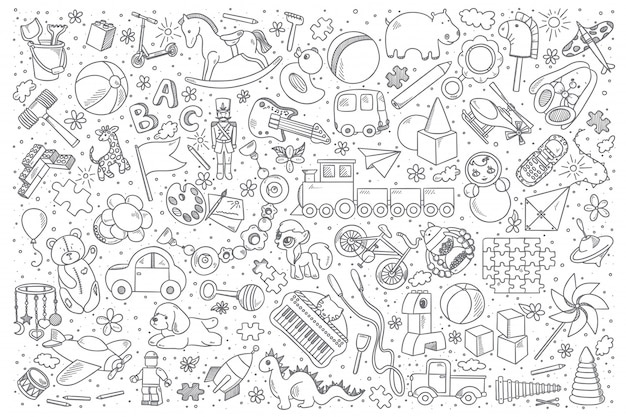 Spielzeug doodle set