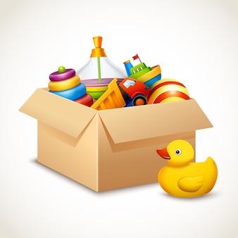 Spielzeug im kasten