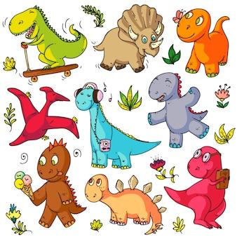 Spielzeug kritzelt. lustige kinderspielzeugobjektskizzenzeichen setzen. netter hase, bärentier, ballon, ente, auto, rakete, pferd, ball, puppe, abc würfel spiel kritzeleien sammlung elemente für babys