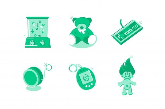 Spielzeug und spiele abbildung