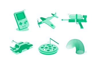 Spielzeug- und Spielillustration