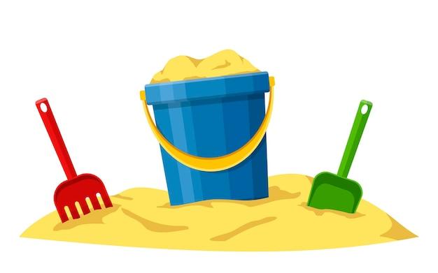 Spielzeugset für kinder sandkasten und spielplatz