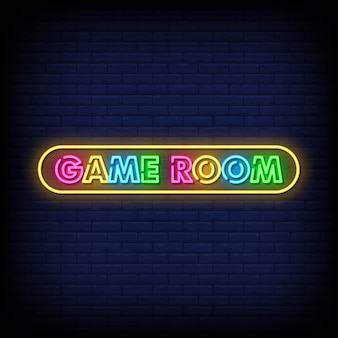 Spielzimmer neon signs style text