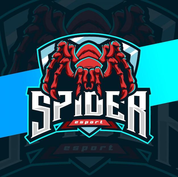 Spinne maskottchen esport logo design