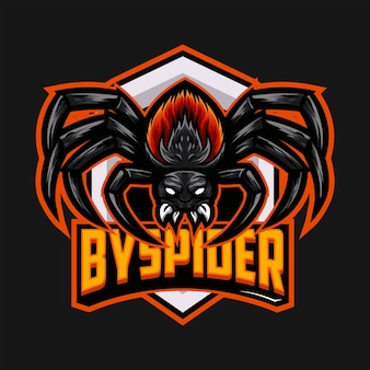 Spinnen-tarantel-verärgertes maskottchen-logo