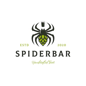 Spinnenbier hop hop logo vorlage