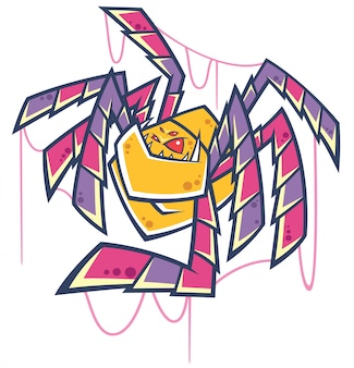 Spinnenkarikatur