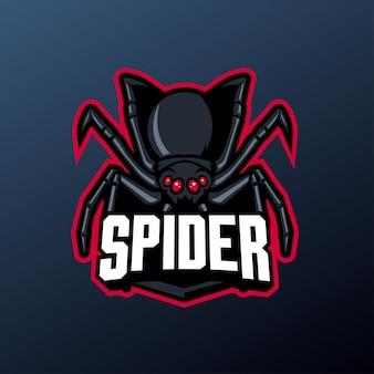 Spinnenmaskottchen für sport- und esport-logo
