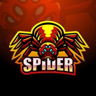 Spinnenmaskottchen-logo-design