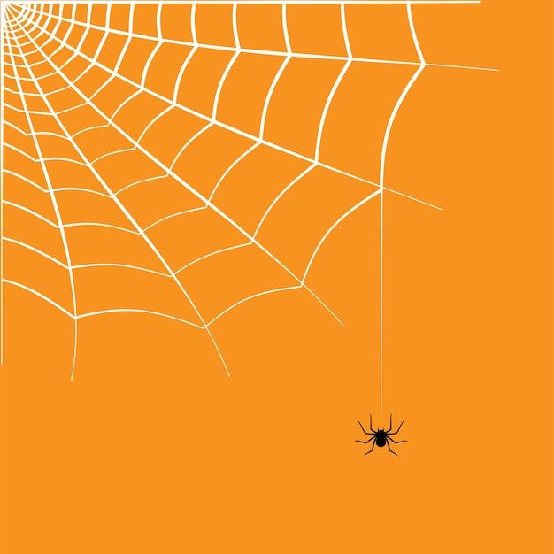 Spinnennetz-eckillustration. halloween-dekoration mit spinnennetz. einfacher spinnennetz-vektor