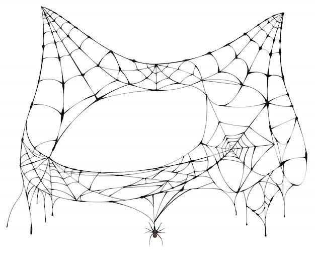 Spinnennetz für halloween