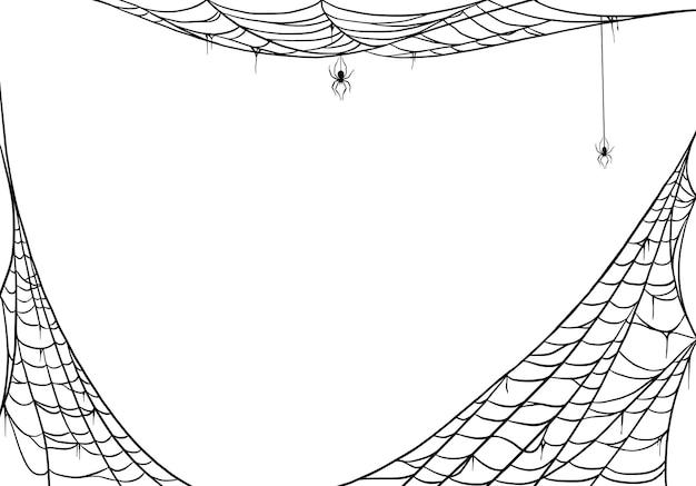 Spinnennetz für karten und hintergrund für halloween-oktoberferien