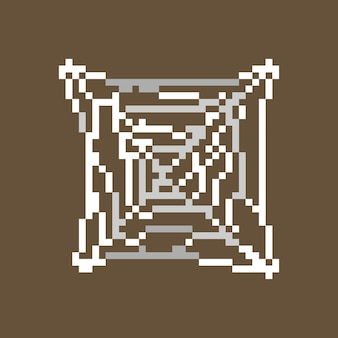 Spinnennetz mit pixelart-stil