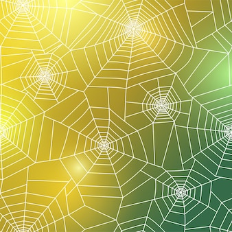 Spinnennetz-muster. halloween-dekoration mit spinnennetz. spinnennetz-vektor-illustration