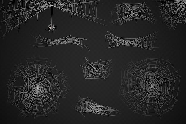 Spinnennetz-silhouette für halloween-dekoration, hauchdünne falle
