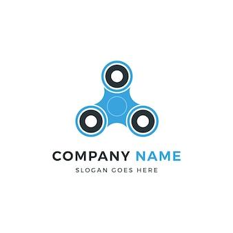 Spinner spiel logo design
