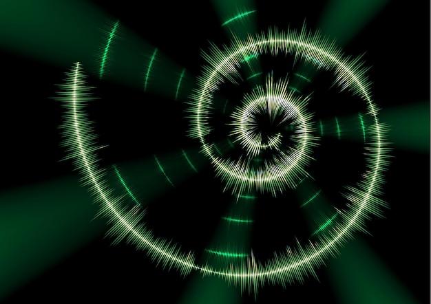 Spiralförmige musikwellenform