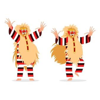 Spirit traditional dancer character aus bali