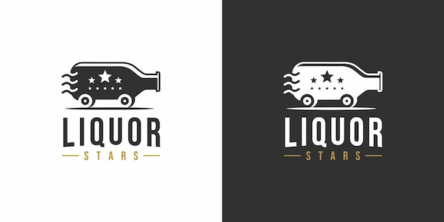 Spirituosen-sterne-vintage-logo-design