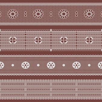 Spitzenset. nahtlose spitzenbänder. vektor-illustration.