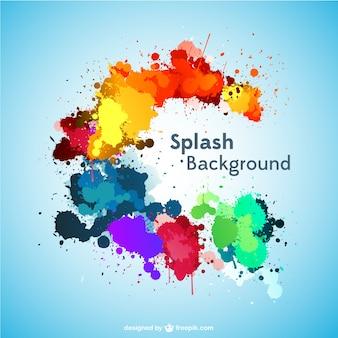 Splash-vektor-hintergrund kostenloser download