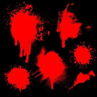Splatters von blut