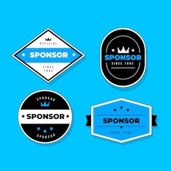 Sponsor aufkleber sammlung