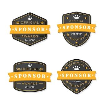 Sponsor label sammlung