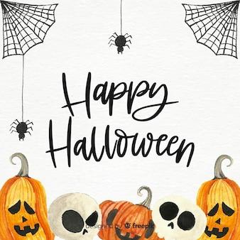 Spooky aquarell halloween hintergrund