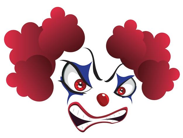 Spooky clown gesicht