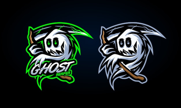 Spooky ghost reaper aufkleber