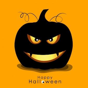 Spooky halloween-kürbis hintergrund