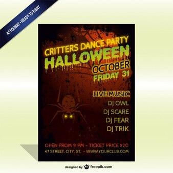 Spooky halloween-party flyer vorlage