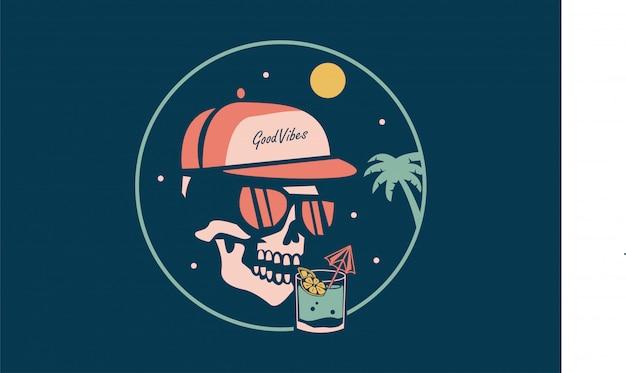 Spooky skeleton wein trinken