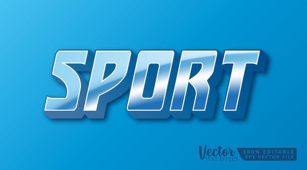Sport 3d bearbeitbare textstil-effekt-modellvorlage