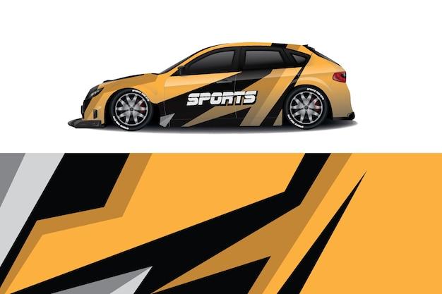 Sport aufkleber wrap design