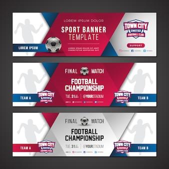Sport banner vorlage