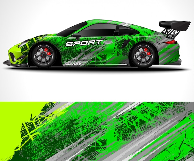 Sport car wrap design und fahrzeuglackierung