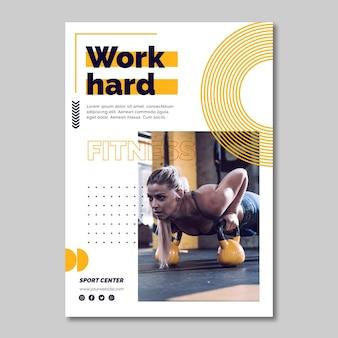 Sport center a5 flyer vorlage mit foto