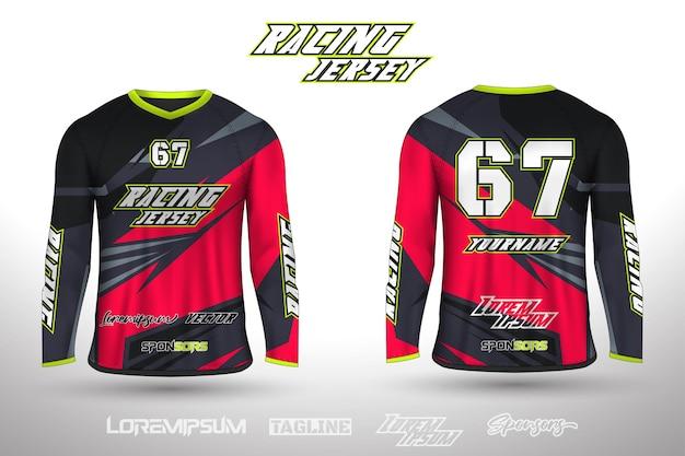 Sport-design-trikot für fußball-rennen radfahren gaming-trikot