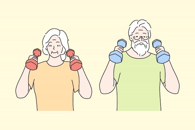 Sport, erholung, gesundheitswesen, training, trainingskonzept
