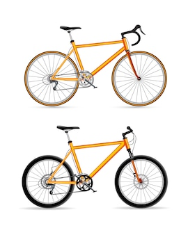 Sport fahrrad design set symbol