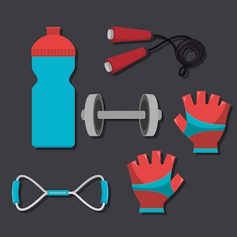 Sport fitness illustration