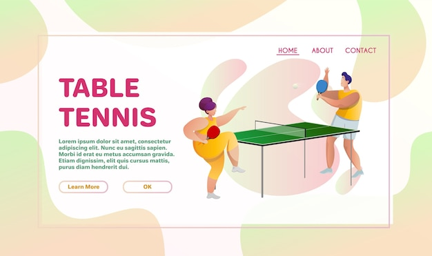 Sport flache illustration