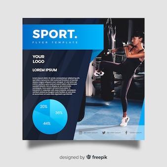 Sport flyer mit fotovorlage