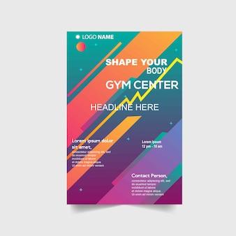 Sport flyer vorlage mit abstrakten formen