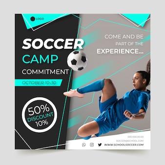 Sport flyer vorlage mit foto