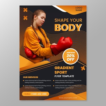 Sport-flyer-vorlage mit foto