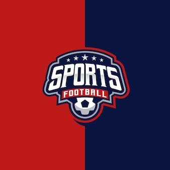 Sport-fußball-esport- und sport-logo-emblem