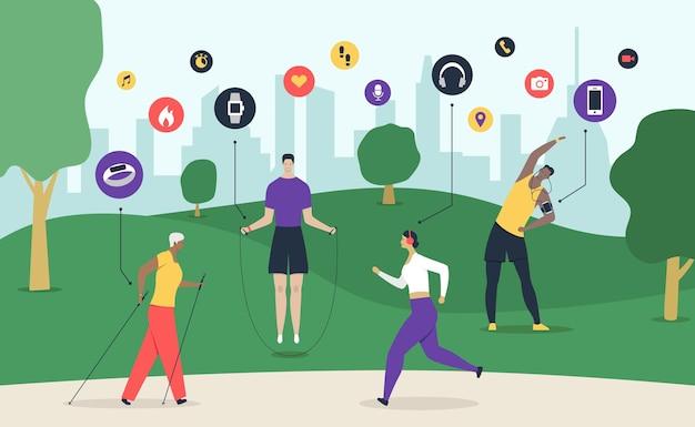 Sport-gadget-abbildung